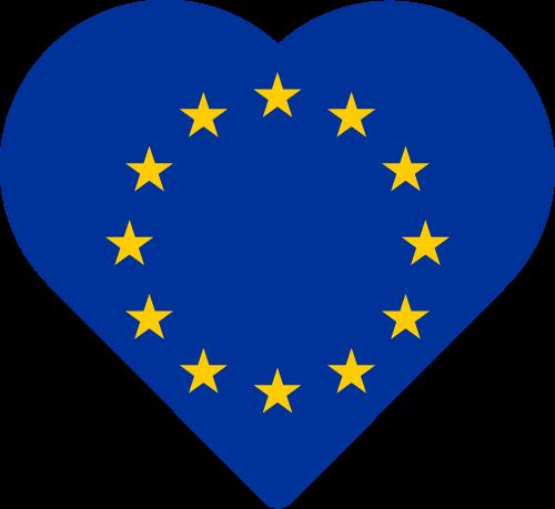 Vector flag of the European Union - Heart