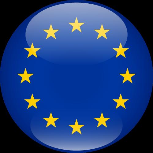 Vector flag of the European Union - Sphere