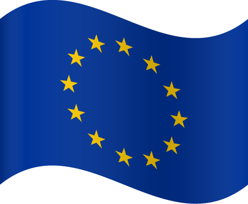 Vector flag of the European Union - Waving