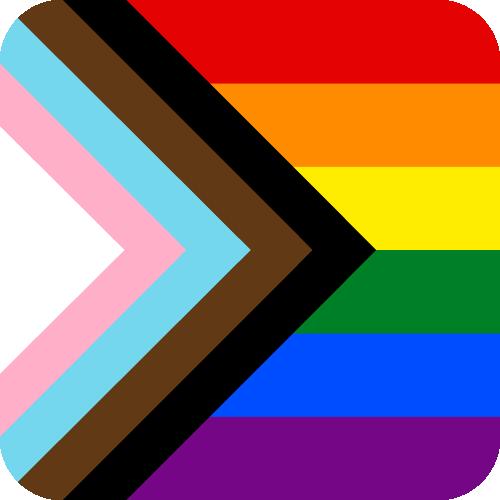 Vector flag of Progressive Pride - Button