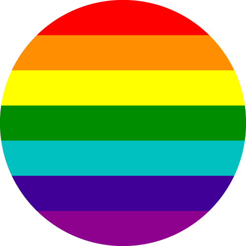 Vector flag of LGBTQ+ Pride - Circle