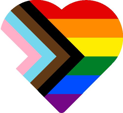 Vector flag of Progressive Pride - Heart