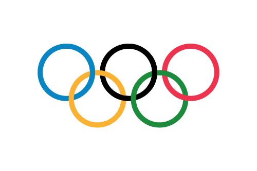 Vector flag of the Olympics