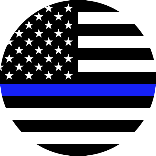 Vector flag of the Thin Blue Line - Circle