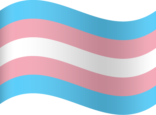 Vector flag of Transgender Pride - Waving