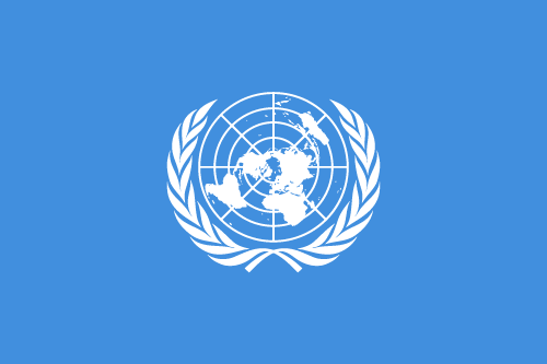 Vector flag of the United Nations