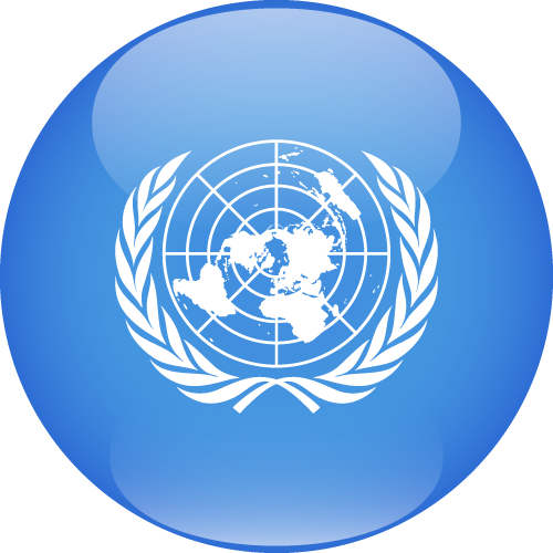 Vector flag of the United Nations - Sphere