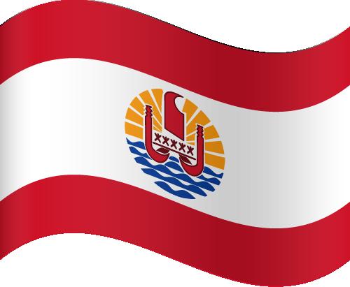 Vector flag of French Polynesia - Waving