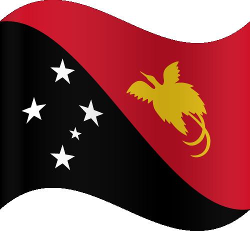 Vector flag of Papua New Guinea - Waving