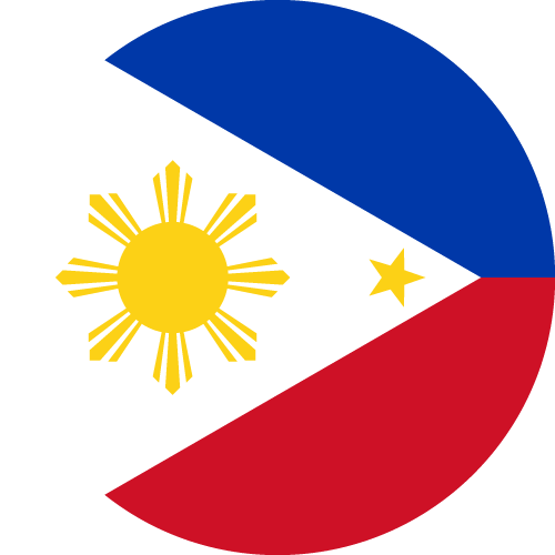 Vector flag of the Philippines - Circle