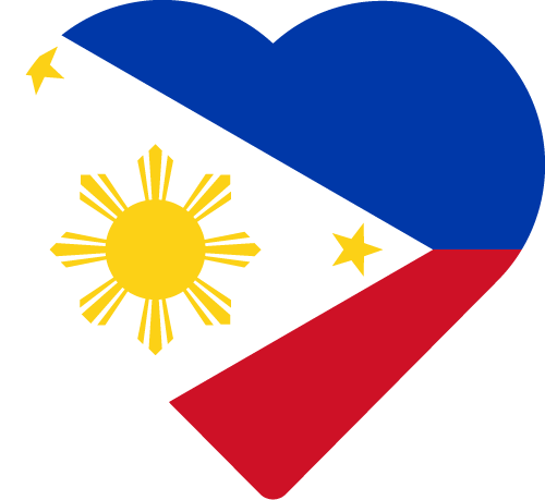 Vector flag of the Philippines - Heart