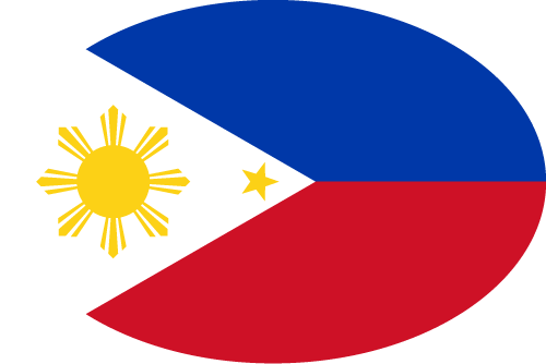 Vector flag of the Philippines - Oval