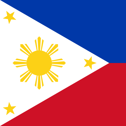 Vector flag of the Philippines - Square