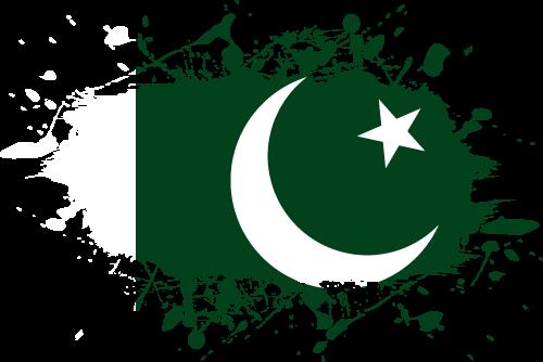 Vector flag of Pakistan - Ink Splat