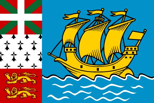 Vector flag of Saint Pierre and Miquelon