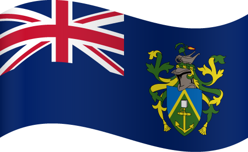 Vector flag of the Pitcairn Islands - Waving