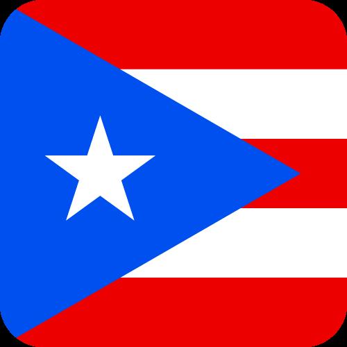 Vector flag of Puerto Rico - Button