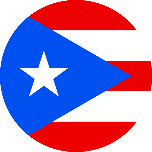 Vector flag of Puerto Rico - Circle