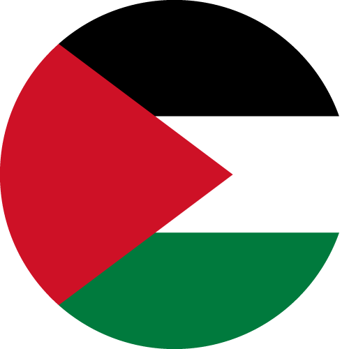 Vector flag of the State of Palestine - Circle