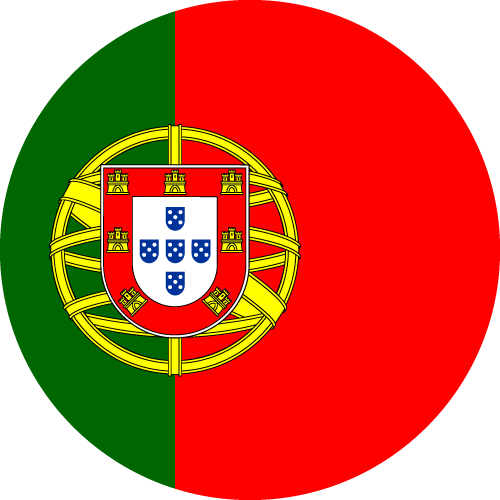 Vector flag of Portugal - Circle