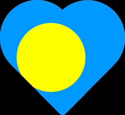 Vector flag of Palau - Heart