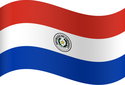 Vector flag of Paraguay - Waving