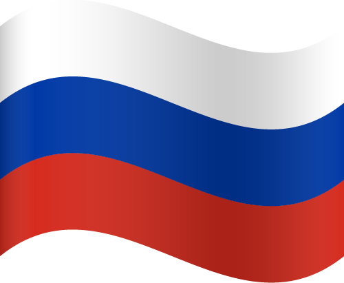 Vector flag of Russia - Waving