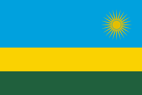 Vector flag of Rwanda