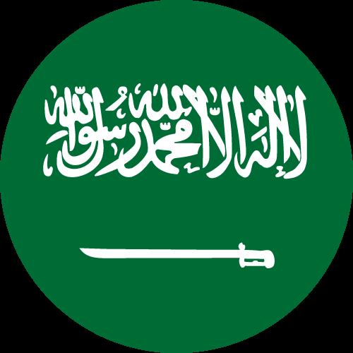 Vector flag of Saudi Arabia - Circle