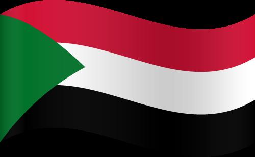 Vector flag of Sudan - Waving