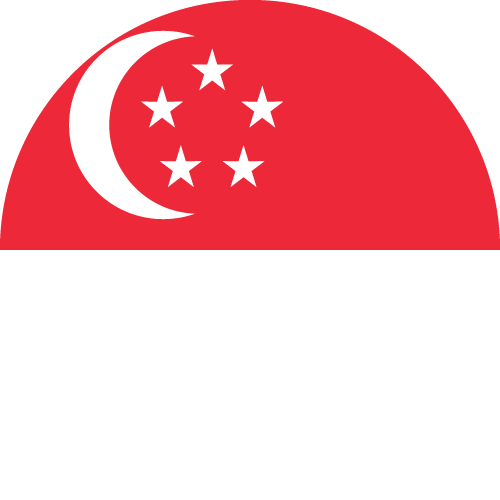 Vector flag of Singapore - Circle