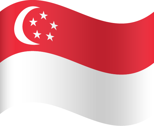 Vector flag of Singapore - Waving