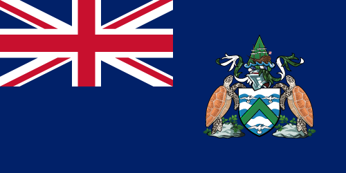 Vector flag of Ascension Island