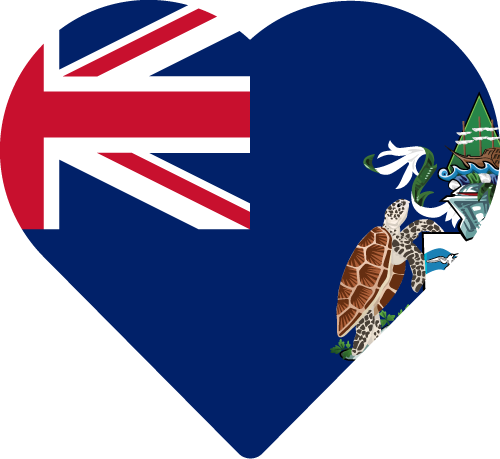 Vector flag of Ascension Island - Heart