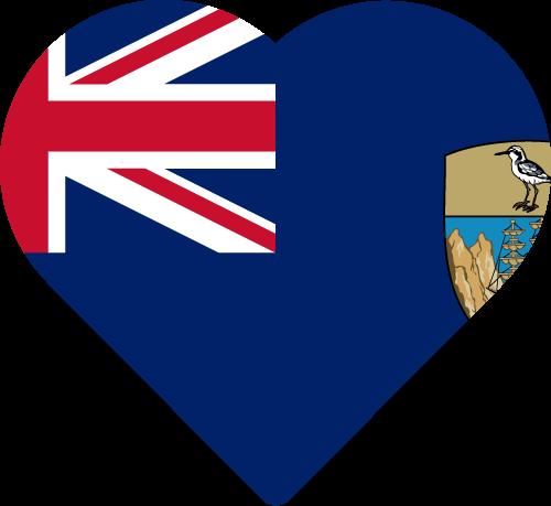 Vector flag of Saint Helena - Heart