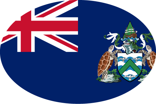 Vector flag of Ascension Island - Oval