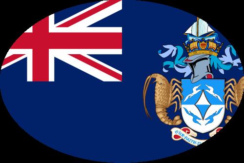 Vector flag of Tristan da Cunha - Oval
