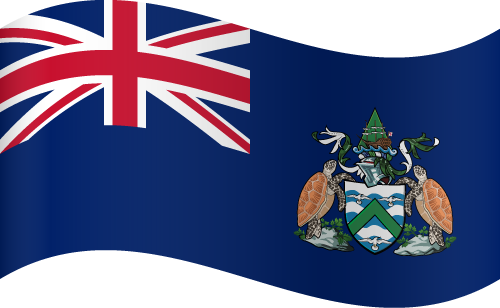 Vector flag of Ascension Island - Waving