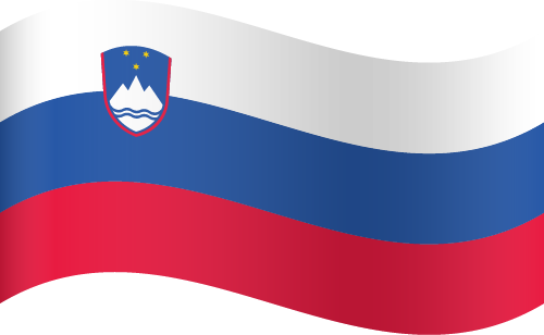 Vector flag of Slovenia - Waving