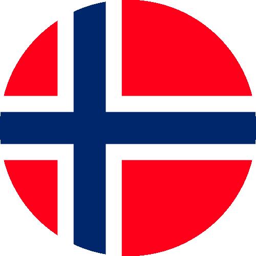 Vector flag of Svalbard and Jan Mayen - Circle