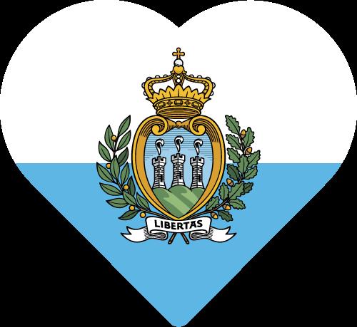 Vector flag of San Marino - Heart