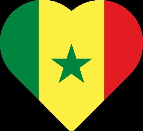 Vector flag of Senegal - Heart