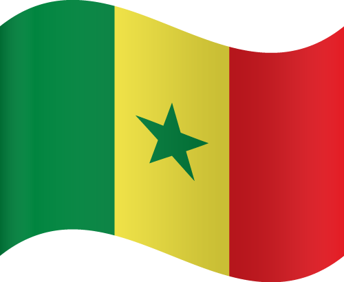 Vector flag of Senegal - Waving