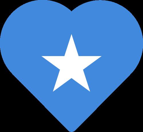 Vector flag of Somalia - Heart