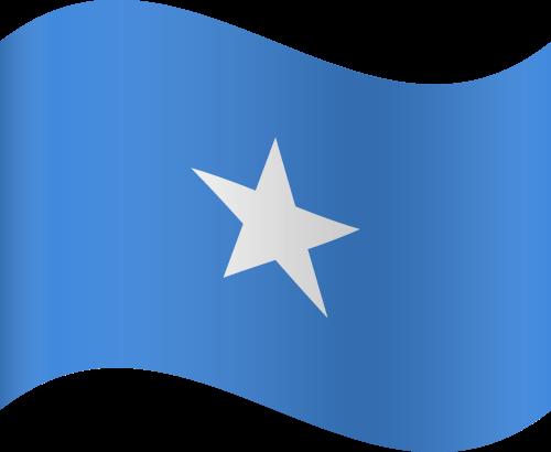 Vector flag of Somalia - Waving