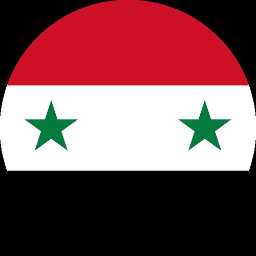 Vector flag of Syria - Circle