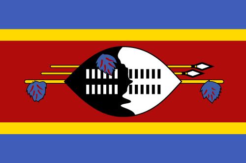 Vector flag of Eswatini