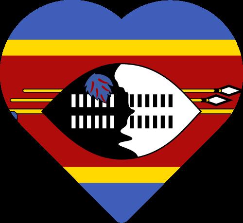 Vector flag of Swaziland - Heart