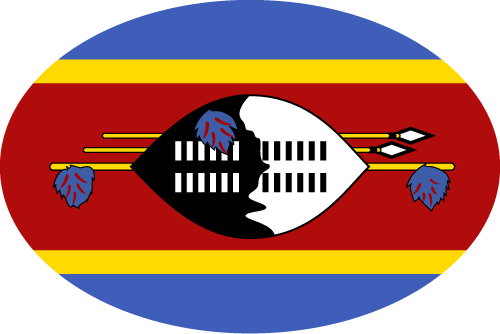 Vector flag of Swaziland - Oval