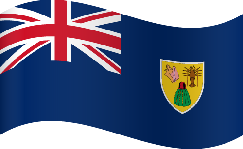 Vector flag of Turks and Caicos Islands - Waving